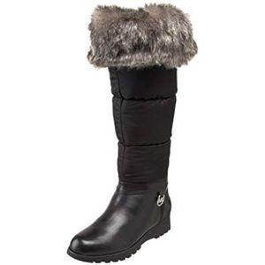 MICHAEL  Kors Black Brandy Snow Tall Weather Boots